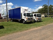 two of our trucks for hire